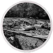 Round Beach Towel featuring the photograph Williams River Summer by Thomas R Fletcher