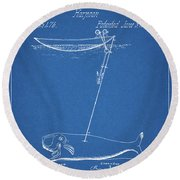 1862 Whaling Harpoon Round Beach Towel
