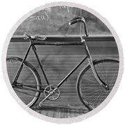 Round Beach Towel featuring the photograph 1895 Bicycle by Joan Reese