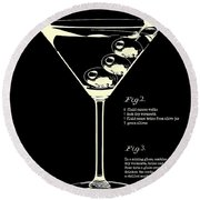 1897 Dirty Martini Patent Round Beach Towel