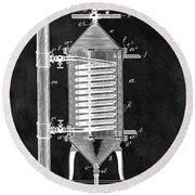 1897 Hot Water Heater Patent Round Beach Towel