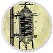 1897 Water Heater Patent Round Beach Towel