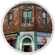 1898 Hotel Connor - Jerome Arizona Round Beach Towel by Saija  Lehtonen