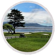 18th At Pebble Beach Horizontal Round Beach Towel