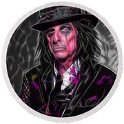 Alice Cooper Collection Round Beach Towel