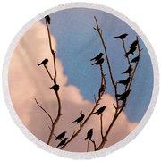 19 Blackbirds Round Beach Towel