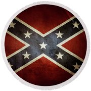 Confederate Flag 12 Round Beach Towel