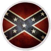 Confederate Flag 12 Round Beach Towel