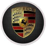 Porsche Logo Round Beach Towel