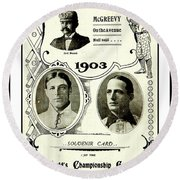 1903 World Series Poster Round Beach Towel