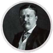 1904 President Theodore Roosevelt Round Beach Towel by Historic Image
