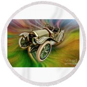 1912 Moon 30 Raceabout Round Beach Towel