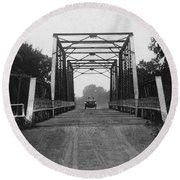 1915 Hudson Road Bridge Round Beach Towel