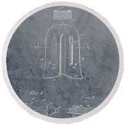 1915 Oil Drill Bit Patent Round Beach Towel