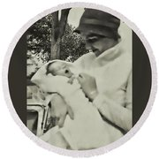 1920s Cloche Round Beach Towel by JAMART Photography