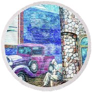 1920's Jazz Era Mural #6 Round Beach Towel