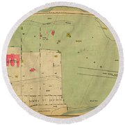 Round Beach Towel featuring the photograph 1923 Inwood Hill Map  by Cole Thompson