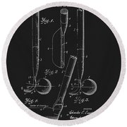 1925 Lawton Golf Club Patent Round Beach Towel