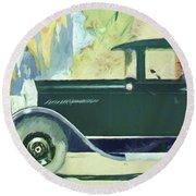 1926 Moon Sedan Ptg Round Beach Towel