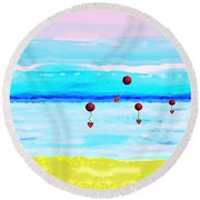 1926 -  Ocean Blue ... Round Beach Towel