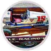 1927 Miller 91 Rear Drive Racing Car Round Beach Towel
