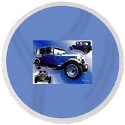 1927 Packard 526 Sedan Round Beach Towel by Sadie Reneau