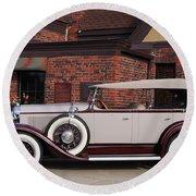 1930 Buick Phaeton Round Beach Towel
