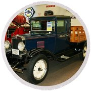 1930 Chevrolet Stake Bed Truck Round Beach Towel