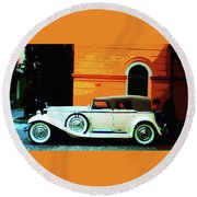 1930 Isotta-fraschini Round Beach Towel