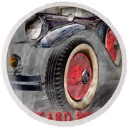 1930 Packard Round Beach Towel