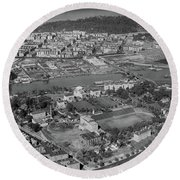 1930's Northern Manhattan Aerial  Round Beach Towel