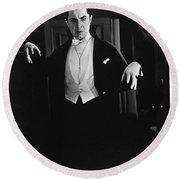 1931 Dracula Bela Lugosi Round Beach Towel