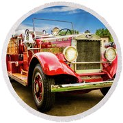1931 Mack - Heber Valley Fire Dept. Round Beach Towel