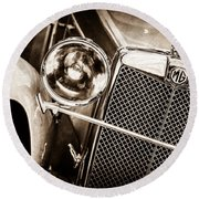 1932 Mg F1 Magna Grille -1363s Round Beach Towel