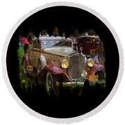 1932 Packard 900 Round Beach Towel