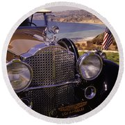 1932 Packard Phaeton Round Beach Towel