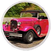 1932 Street Rod 001 Round Beach Towel