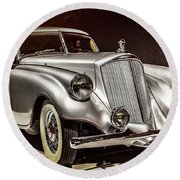 1933 Pierce-arrow Silver Arrow Round Beach Towel