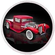 1934 Ford Custom Pickup Hot Rod Round Beach Towel by Gary Warnimont