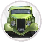 1934 Ford Street Hot Rod On A Transparent Background Round Beach Towel