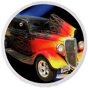 1934 Ford Street Rod Classic Car 5545.04 Round Beach Towel by M K  Miller