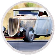 1934 Roadster Round Beach Towel