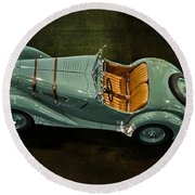 1936 Bmw 328 Roadster Round Beach Towel