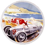 1936 F1 Monaco Grand Prix  Round Beach Towel