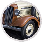 1936 Gmc Pickup Truck 1 Round Beach Towel
