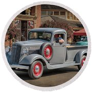1936 Gmc T-14 Pickup  Round Beach Towel
