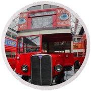 1937 Aec Regent I Bus Stl2377 Round Beach Towel