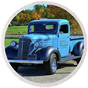 1937 Chevy Truck Round Beach Towel by Mike Martin