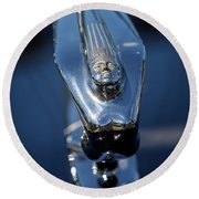 1937 Desoto Hood Ornament Round Beach Towel