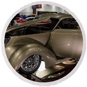 Round Beach Towel featuring the photograph 1937 Ford Coupe by Randy Scherkenbach